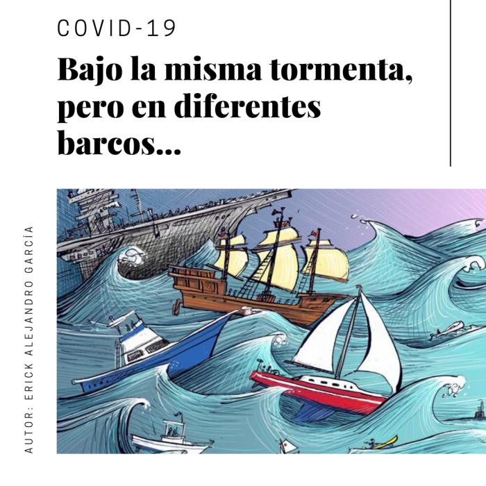 COVID-19 Misma Tormenta, Diferentes Barcos